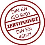 Zertifiziert nach DIN ISO 9001 & DIN ISO 46001
